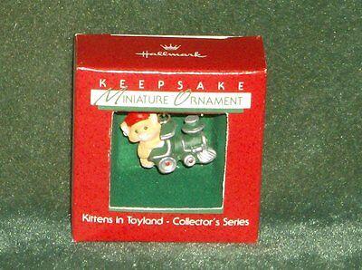 Hallmark 1988 Kittens in Toyland - 1st in Series - Miniature Ornament - NEW