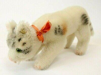 Vintage Steiff Original Trink-Katze Cat Plush Animal 8 Inches Long