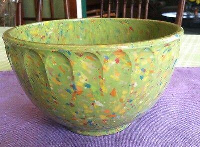 Vintage Boonton Rainbow/Confetti/Splatter Green 2qt Melamine Mixing Bowl 511A-20