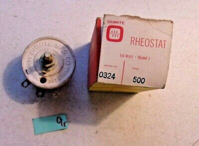 New In Box Ohmite Rheostat 0324 500 Ohms 108-1