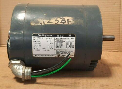 WESTINGHOUSE  #311P088  AC MOTOR (1/4HP, 1725 RPM, 230/460V, 1.1/.55A, 3P)  S54