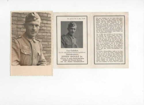 WW2 stamp Original WWII German Death Card FUNERAL 1940