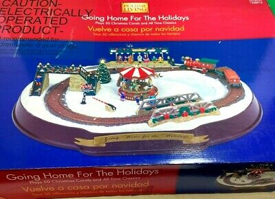 Holiday Living Going Home For The Holidays Christmas Train Set #258915 in Box