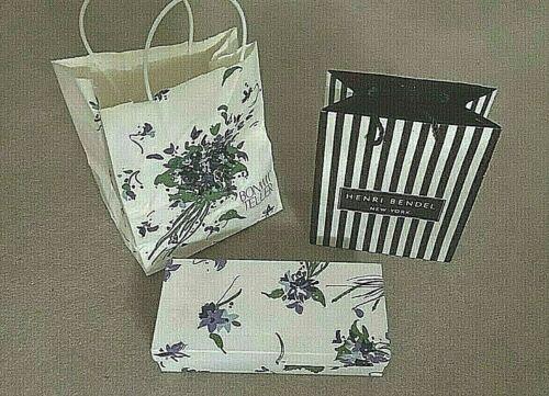 3 Vintage Paper HENRI BENDEL &  BONWIT TELLER Shopping Bag and Box