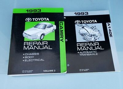 1993 TOYOTA CAMRY REPAIR MANUAL CHASSIS BODY ELECTRICAL A140E AUTO TRANSAXLE