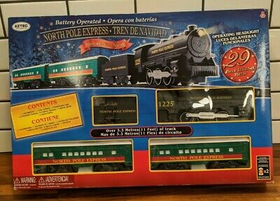 North Pole Express Christmas Train Set By EZTech Battery Operated Classic Toy