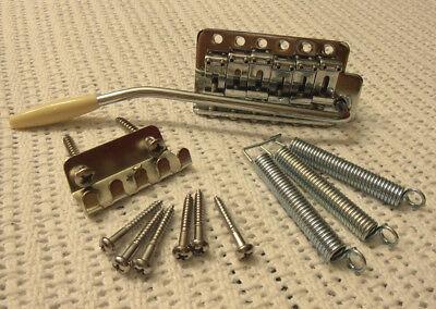 ST Vintage Tremolo mit Blechreiter + Fender American Arm/Bar komplett + Zubehör