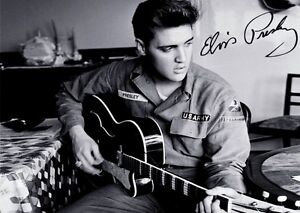 Elvis Presley signed Photo