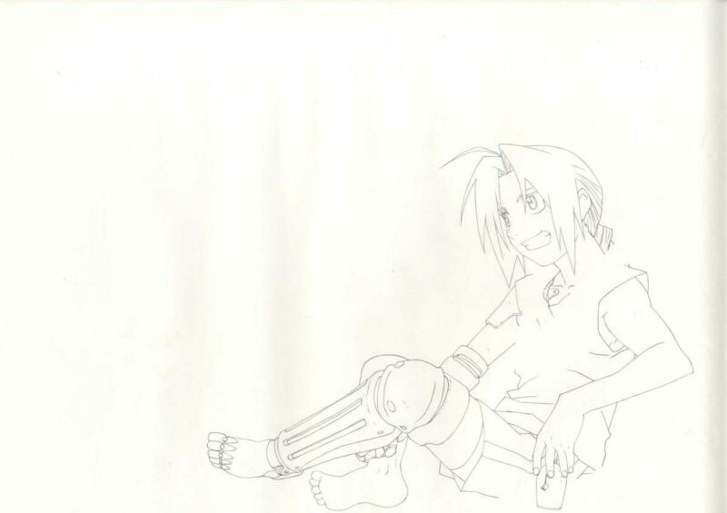 Anime Genga not Cel Full Metal Alchemist Hanken 6 pages #5