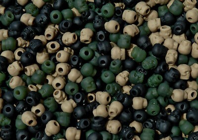 Camo mix Skull shaped Pony Beads Halloween Goth paracord jewelry school crafts ()