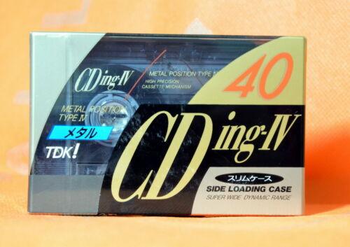 TDK CDingIV 40 Japan TYPE IV Metal Cassette Tape SEALED JP Market