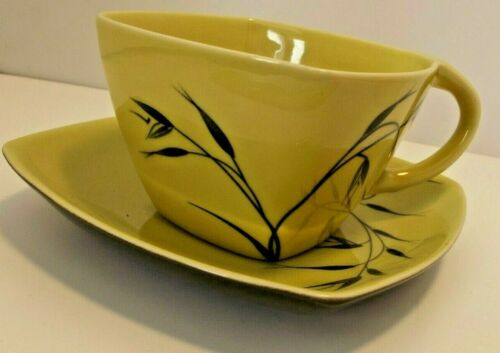 Winfield China Cup&Saucer Oats pattern chartreuse green mid century dinnerware