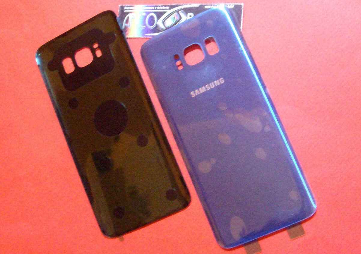 COVER POSTERIORE SAMSUNG GALAXY S8 G950 CORAL BLUE BACK BATTERIA+BIADESIVO VETRO