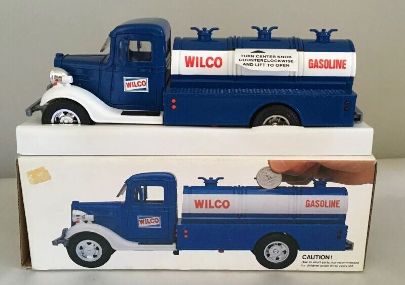 VINTAGE 1986 WILCO TOY TRUCK BANK - TESTED