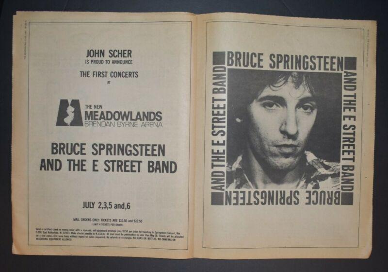 Bruce Springsteen 1981 Concert Ad First Concerts Meadowlands NJ