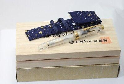 "NAKAYA  DEMONSTRATOR Fountain Pen HUGE 6.1"" long 14K MISIC Nib NEW boxed"
