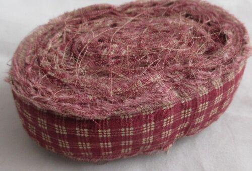 Rag Rug Yarn Torn Fabric Strips Toothbrush Amish Knot Braided Crochet 24 Yards