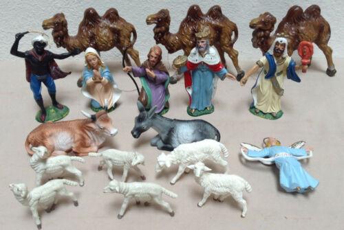 VINTAGE Nativity Pieces Italy 17 Miscellaneous Piece Lot