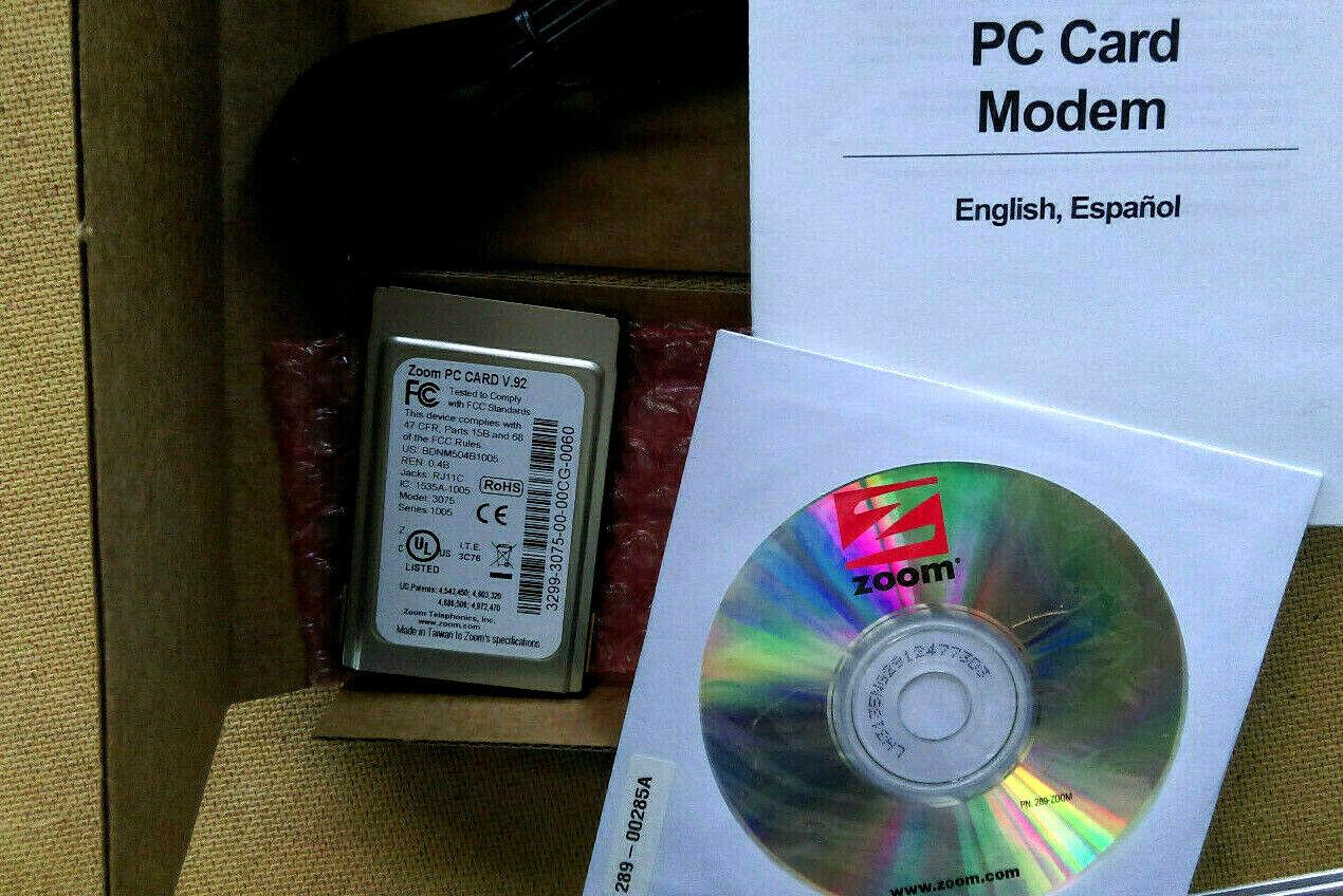 как выглядит Vintage Zoom 3075 56k V.92/V.90 PC Card Modem. PCMCIA. New original Sealed box фото