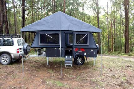 Forward open hard floor camper.  PMX Geraldton. Coorong GT