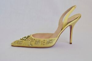 CHRISTIAN-LOUBOUTIN-Satin-CRYSTAL-SEQUIN-EMBROIDERY-Mule-High-Heel-Pump-9-39