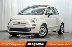 2012 Fiat 500C LOUNGE | CONVERTIBLE | CUIR | BLUETOOTH | ONE OWN