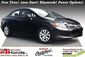 2012 Honda Civic Sedan LX Honda Certified! New Tires! Auto Start
