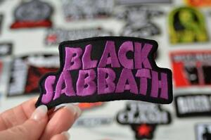 BLACK SABBATH Rock Band Heavy Metal Purple Writing Music Patch Iron On Patches