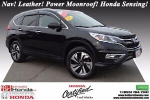 2015 Honda CR-V TOURING - AWD Nav! Leather! Power Moonroof! Hond