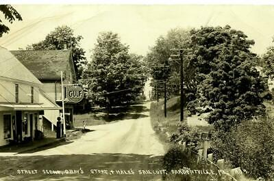 RPPC  SEDGWICK, SARGENTVILLE, ME MAINE GRAY'S STORE. GULF GAS SIGN, SAIL LOFT