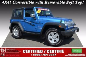 2010 Jeep Wrangler SPORT 4X4! Convertible with Removable Soft To