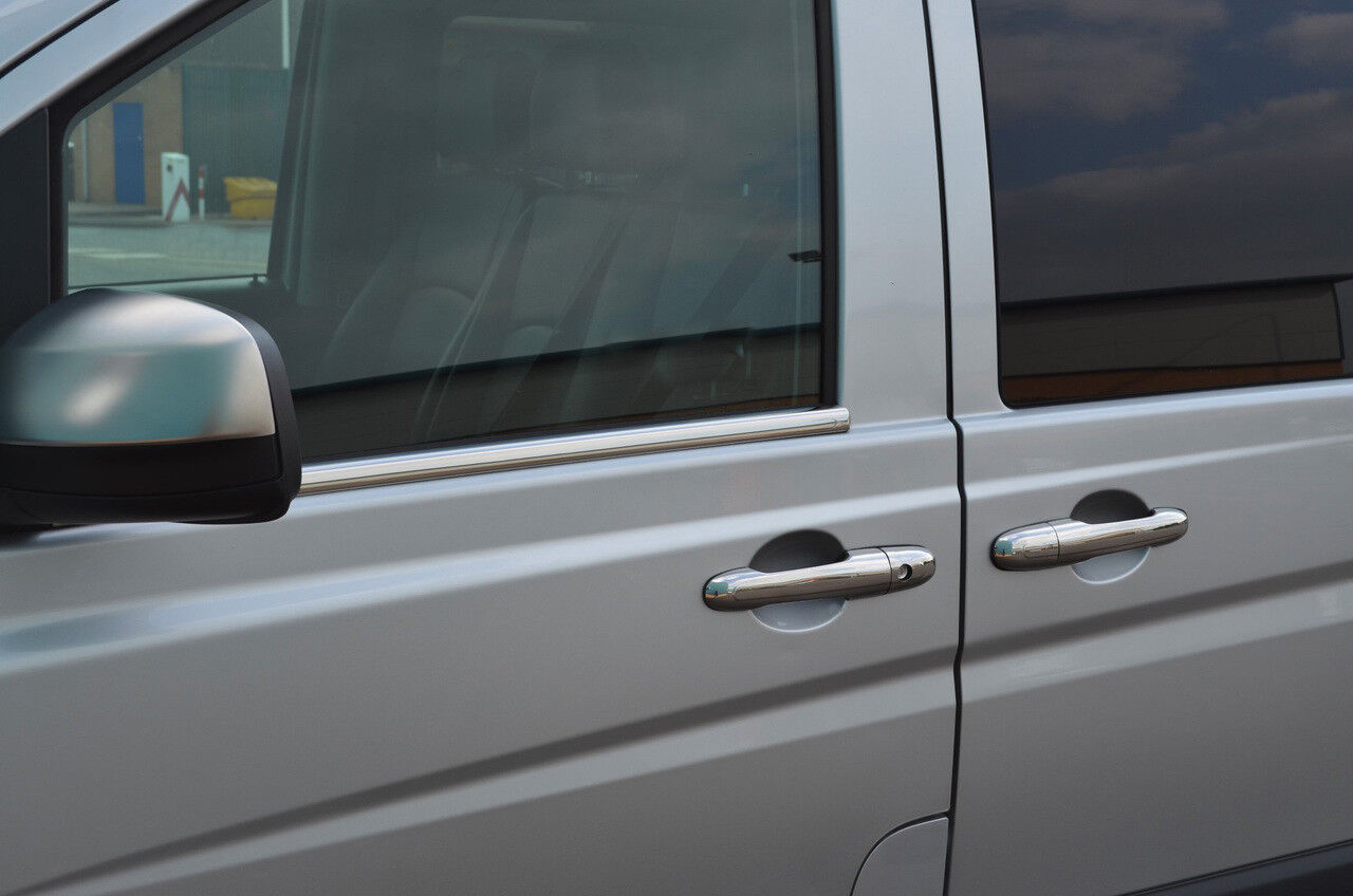 2015+ Chrome Side Door Window Sill Trim Set Covers To Fit Mercedes-Benz Vito