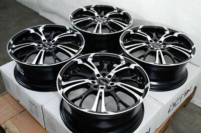 "17"" Wheels Fiat 500X Ford C-Max Edge Focus Fusion Pontiac G5 G6 Black Rims (4)"