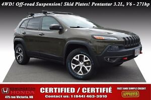 2014 Jeep Cherokee Trailhawk 4WD! Off-road Suspension! Skid Plat