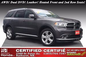 2015 Dodge Durango Limited Limited Package!! AWD! Dual DVD! Leat