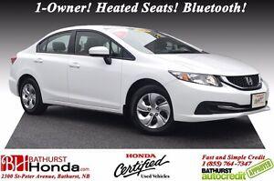 2014 Honda Civic Sedan LX Honda Certified! 1-Owner! Heated Seats