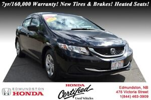 2015 Honda Civic Sedan LX 7yr/160,000 Warranty! New Tires & Brak