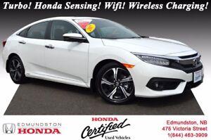2017 Honda Civic Sedan TOURING Turbo! Honda Sensing! Leather! Po