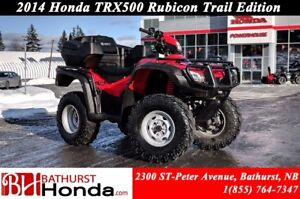 2014 Honda TRX500 Rubicon Power Steering! Rear Seat!