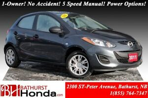 2011 Mazda Mazda2 GS LOW PRICE!! 1-Owner! No Accident! 5 Speed M