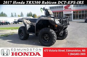 2017 Honda TRX500 Rubicon DCT-EPS-IRS Dual-Clutch Transmission!