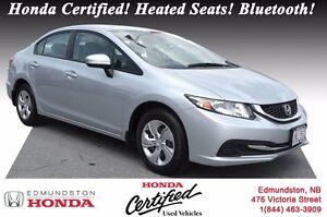 2014 Honda Civic Sedan LX Honda Certified! Heated Seats! Bluetoo