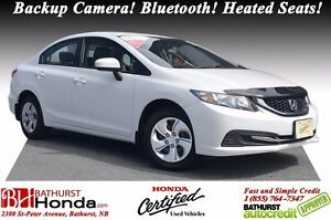 2015 Honda Civic Sedan LX 1-Owner! No Accident! Backup Camera! H