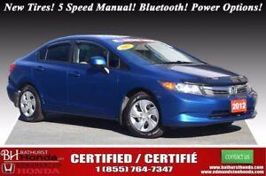 2012 Honda Civic Sedan LX New Tires! 5 Speed Manual! Bluetooth!