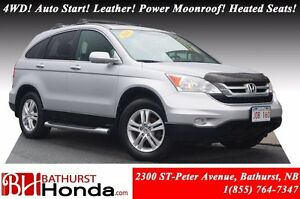 2011 Honda CR-V EX-L 4WD! Auto Start! Leather! Power Moonroof! H