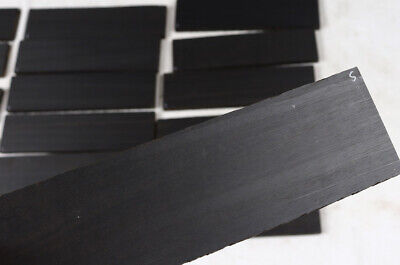 "Oversized black Gabon ebony acoustic guitar bridge blank 2.6x10x.5"" EBB5"