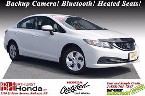 2015 Honda Civic Sedan LX 1-Owner! No Accident! Backup Camera! H
