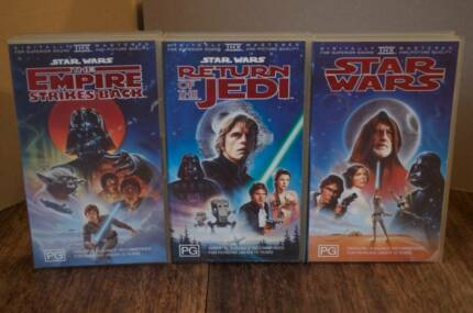 Star Wars Trilogy VHS Vintage Collection White Gum Valley Fremantle Area Preview