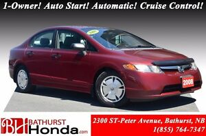 2008 Honda Civic Sedan DX-G 1-Owner! Auto Start! Automatic! Crui