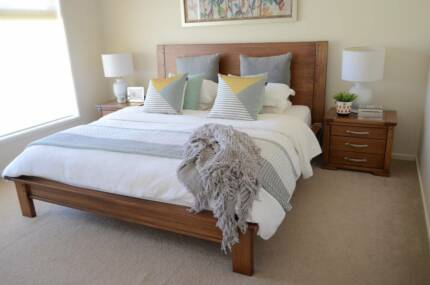 Stylish timber king bedroom suite